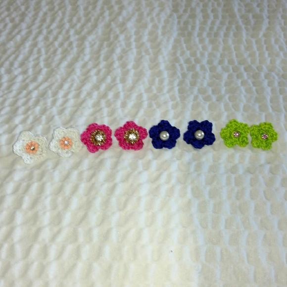 Jewelry - 3 Pairs of Crochet Handmade Earrings